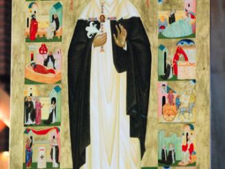Dominikańscy nowicjusze mogą się modlić przed ikoną Świętej Katarzyny Sieneńskiej, dominikańskiej tercjarki i doktora Kościoła. Ikonę patronki Europy poświęcono w dniu jej święta.