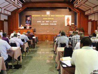 """Około 70 oblatów z całego świata zebrało się na posiedzeniu Międzykapitulnym 2013 w Centrum Pastoralnym Archidiecezji Bangkok, w Baan Phu Samphran Wan, na Tajlandii. W <a class=""""mh-excerpt-more"""" href=""""https://www.zyciezakonne.pl/wiadomosci/swiat/oblaci-spotkanie-miedzykapitulne-w-bangkoku-29379/"""" title=""""Oblaci NMP: spotkanie międzykapitulne w Bangkoku"""">[...]</a>"""