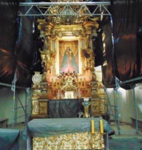 Kodeń - nadal trwa renowacja prezbiterium bazyliki