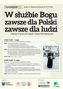 Sympozjum_o_Ks_Bochenku_Trzebnica 19-06-2015_plakat