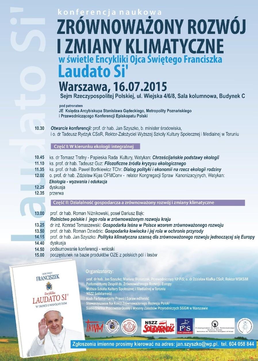 Zaproszenie Wsksim Konferencja Naukowa O Ekologii życie Zakonne