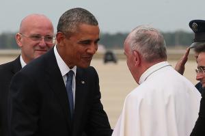 Papież Franciszek z Prezydentem USA, KAI / psd