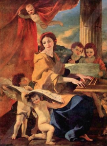 Św. Cecylia, mal. Nicolas Poussin, XVI w