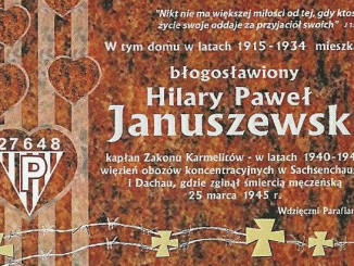 3 maja br. o godz. 16.00 w Gręblinie – miejscu narodzin bł. O. Hilarego Pawła Januszewskiego O.Carm., zostanie odsłonięta tablica poświęcona Jego pamięci.