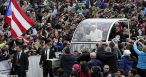 Papież Franciszek i pielgrzymi z Kuby - REUTERS