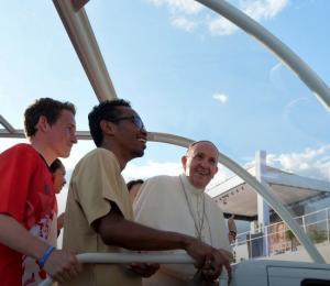 Franciszek na Campus Misericordiae: Przyszliśmy, aby zostawić ślad