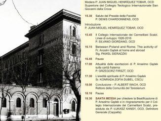Na stronie internetowej Kurii Generalnej OCD można przeczytać informację o przygotowaniach do 90. rocznicy założenia Międzynarodowego Kolegium Karmelitów BosychTeresianumw Rzymie.