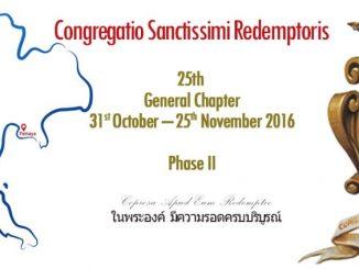 Końcem października 2016 r. przybędą z całego świata do Tajlandii uczestnicy kanonicznej fazy XXV Kapituły Generalnej Redemptorystów.