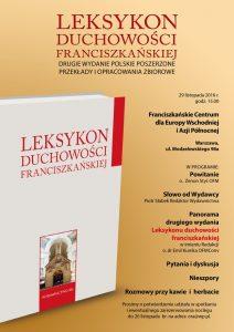 Prezentacja nowego wydania Leksykonu duchowości franciszkańskiej