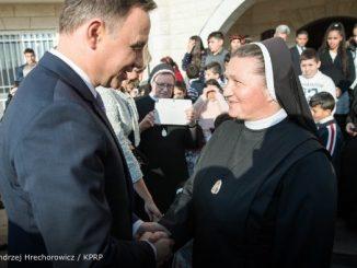 Jednym z najbardziej wzruszających miejsc wizyty pary prezydenckiej w Betlejem było spotkanie w Home of Peace – Domu Pokoju.