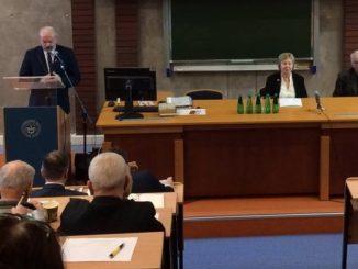 """W dniu 14 stycznia br. miała miejsce konferencja pt. """"Prymas Polski August Hlond – na straży sumienia Narodu"""" w auli Uniwersytetu Ekonomicznego w Rybniku."""