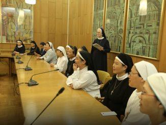 Siostry z kilku zgromadzeń działających w Chinach odwiedziły wpiątekSekretariat Konferencji Episkopatu Polski w Warszawie.