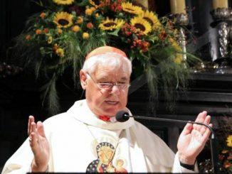 Kard. Gerhard Ludwig Müller, niemiecki duchowny, do niedawna prefekt watykańskiej Kongregacji Nauki Wiary, modlił się przed Cudownym Obrazem Matki Bożej w czwartek, 17 sierpnia.
