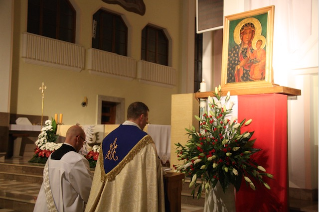 Nawiedzenie ikony Matki Bożej Częstochowskiej w pallotyńskiej wspólnocie w Ołtarzewie odbyło się 16-17 listopada 2017 r.