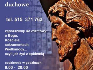 Krakowscy jezuici uruchomili telefoniczne pogotowie duchowe.